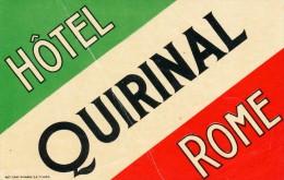 ROMA HOTEL QUIRINAL ETICHETTA - Sigarette (marche)