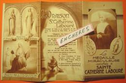 La Médaille Miraculeuse Confiée à Sainte Catherine Labouré - Dépliant 6 Pages - Miracle  - Chromo Religieux - Images Religieuses