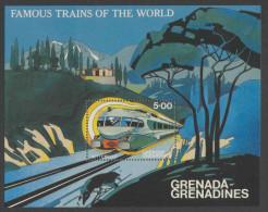 "Grenada Grenadines 1982 B 64 - Mi 501 YT B68 ** ""Settebello"", Italy – Famous Trains / Zug / Trein - Treinen"