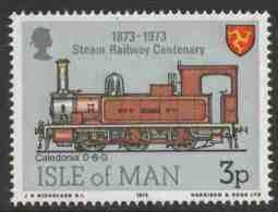 """Isle Of Man 1973 Mi 30 YT 19 ** Locomotive No. 4 """"Caledonia"""" (1885) - Cent. Steam Railway /  C N2-Tenderlokomotive - Treinen"""