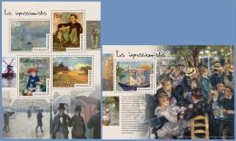 tg14513ab Togo 2014 Painting Impressionists 2 s/s Claude Monet Pierre-Auguste Renoir �douard Manet