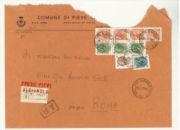 CAP 27030 - PIEVE ALBIGNOLA - PAVIA - RACC - ANNO 1980  - II° SCELTA - F.TO 18 X 24  - STORIA DEI COMUNI D´ITALIA - Affrancature Meccaniche Rosse (EMA)