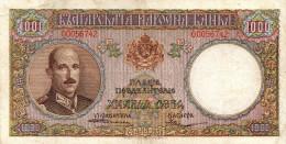 Bulgaria,1000 Leva,1938 - P.56,see Scan - Bulgarie