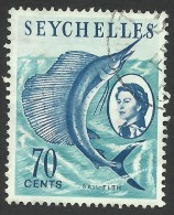 Seychelles, 70 C, 1962, Scott # 206, Used - Seychelles (...-1976)