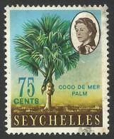Seychelles, 75 C, 1966, Scott # 206A, Used - Seychelles (...-1976)