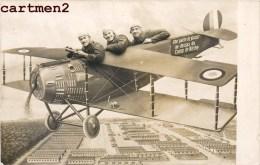 PHOTOMONTAGE SURREALISME SOLDATS MILITAIRES AU DESSUS DU CAMP DE BITCHE PHOTO DE FOIRE AEROPLANE MONTAGE MOSELLE