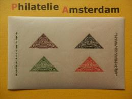 Costa Rica 1937, SEGUNDA EXPOSICIÓN FILATÉLICA / STAMPS ON STAMPS: Mi 211-14, Bl. 1, ** - Stamps On Stamps