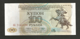 [NC] TRANSNISTRIA - NATIONAL BANK - 100 ROUBLES (1993) - Banconote