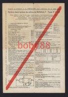 Notice descriptive du v�hicule Renault type R 1126 (4L / 4 L)