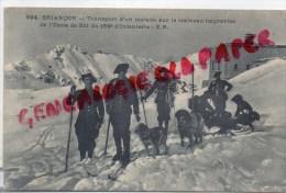 05 - BRIANCON - TRANSPORT D' UN MALADE SUR LE TRAINEAU IMPROVISE DE L' ECOLE DE SKI DU 159E INFANTERIE - Briancon