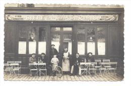 CPA 92 Carte Photo Puteaux Place De La Defense  Devanture De Café Biére De La Ville De Paris Maison Nogris - Puteaux
