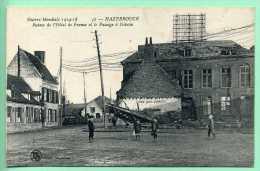 59 HAZEBROUCK - Ruines De L'Hotel De France Et Le Passage à Niveau - Hazebrouck