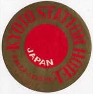 ETICHETTA PUBBLICITà ALBERGO KYOTO STATION HOTEL JAPAN GIAPPONE LUGGAGE LABEL - Hotel Labels