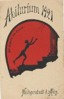 Heiligenstadt D.z. Marz. Abiturium 1921 Per Aspera Ad Astra Art Card Nude Woman - Heiligenstadt