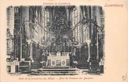 BF35473 luxembourg autel de la consolatrice des afliges cathedra front/back scan