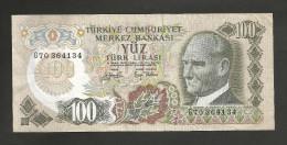 [NC] TURKEY - 100 LIRA (1970) - Turchia