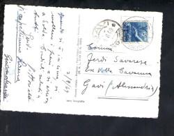 F2483 Annullo Storia Postale GAVI 1949( Comune Ca4700 Abitanti Del Piemonte ) Su Card Strada Dello Stelvio - 6. 1946-.. Repubblica