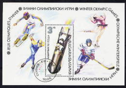 Bulgaria - 1991 - Usato/used - Olimpiadi Invernali - Mi Block 216A - Gebruikt