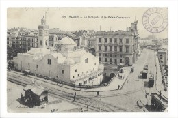 10455 - Alger La Mosquée Et Le Palais Consulaire - Alger