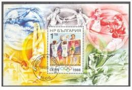 Bulgaria - 1988 - Usato/used - Olimpiadi - Mi Block 180A - Gebruikt