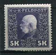 26297) �STERREICH ungarische Feldpost # 47 gefalzt aus 1915, 25.- �