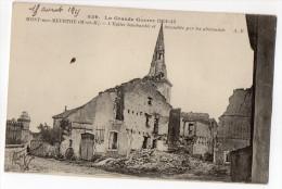Guerre 14-18-MONT-SUR-MEURTHE-1915- L'église Bombardée  Et Incendiée Par Les Allemands  N° 249 éd A.R--pas Très Courante - Autres Communes