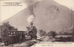Thematiques 63 Puy De Dôme L'auvergne Pittoresque Le Puy De Dôme Train Vue Prise Du Bois Des Charmes - France
