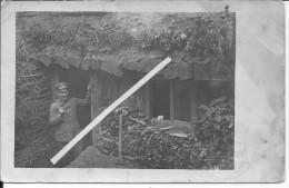 Secteur Vauquois Massige Malencourt Officier Allemand Devant Son Abri Tasse Patriotique 1 Carte Photo 1914-1918 Ww1 Wk - War, Military