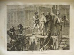Exécution De Louis XVI , Gravure De 1880 - Prenten & Gravure