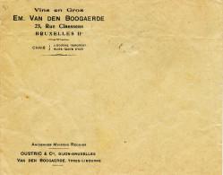 935/22 - VINS ALCOOLS BELGIQUE - Enveloppe Alcools Et Vins En Gros Van Den Bogaerde BXL II (LAEKEN) - Vins & Alcools