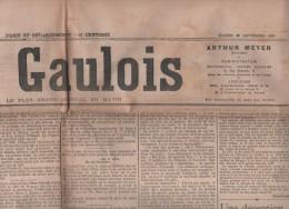 LE GAULOIS 26 09 1908 - CHEVERNY - CASINO ROULETTE - TOULON CATASTROPHE CUIRASSE LATOUCHE TREVILLE - BULGARIE - Journaux - Quotidiens