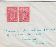 Armoiries - Mechelen - Belgique - Lettre De 1946 - Oblitération Marchin - Expédié Vers Bruxelles - Valeur 15 Euros - Cartas
