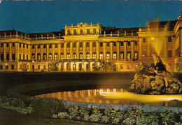 5760- VIENNA- SCHONBRUNN BY NIGHT, FOUNTAIN, POSTCARD - Château De Schönbrunn