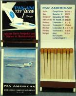"""Original Streichholzbriefchen PAN-AM """"Pan American... Die Erfahrenste Fluggesellschaft Der Welt"""" - Matchboxes"""