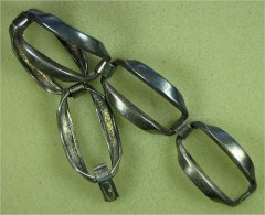 Massives Silbernes Gliederarmband Mit 5 Gliedern - Bracelets