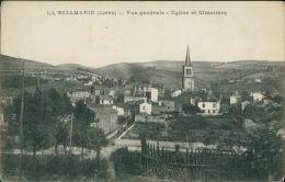 42 LA RICAMARIE / Vue Générale Et Eglise Et Cimetière / - Autres Communes