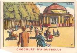 """0295 """"CHOCOLAT D'AIGUEBELLE -DONZERE - N. 27 - LA DIFFUSION EN PLEIN AIR PAR HAUT-PARLEUR'"""" FIGURINA ORIGINALE - Cioccolato"""