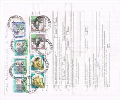 1371-Italia 27.3.96 Mod.250 Italia/Luton England Affr. 3 X £. 20.000 + £. 10.000 + 2 X £. 1.000 + 2 X £.1000 + 2 × £. 50 - 6. 1946-.. Repubblica
