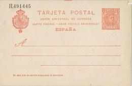 10770. Entero Postal Alfonso XIII Cadete 10 Cts, Edifil Num 47A ** - Enteros Postales