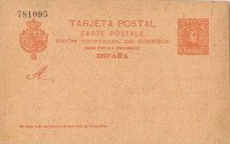 10771. Entero Postal Alfonso XIII Cadete 10 Cts, Edifil Num 42 * - Stamped Stationery