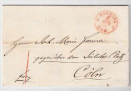 NPD ,  Hamburg, 1869, Roter Franko-Stp. ,  #238 - Hamburg