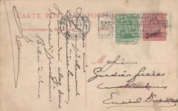 943/22 - Entier Paquebot Oostende-Dover TP Petit Albert 5 Sur 30 C + TP Dito 5 C Déf. BRUXELLES 1924 - Stamped Stationery