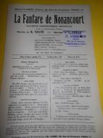 La Fanfare De Nonancourt/ TEXTE  /Teste/ Chelu/ Saynéte Excentrique Musicale/Labbé/Vers 1930         PART66 - Partitions Musicales Anciennes
