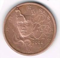 Monaie 2 Cts EURO, FRANCE 2004, Erreur, Varieté º - Francia
