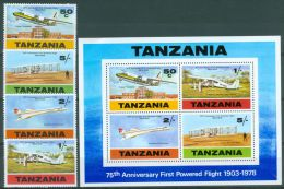 Tanzania 1978 75th Anniversary Of 1st Powered Flight. Airplane MNH** - Lot. A349 - Tanzanie (1964-...)