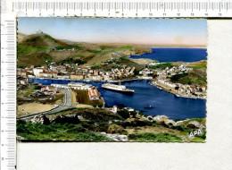L437  -   PORT VENDRES  -   Vue Panoramique Sur Le Port - Au Fond,  COLLIOURE Et La Plage D  ARGELES -  Départ Du Courri - Port Vendres