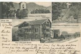 Grus Aus Vordermeggen Post Telegraph Bureau Timbrée Meggen 1905 AHB - LU Lucerne