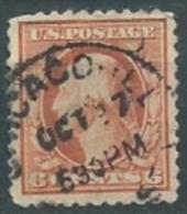 VERINIGTE STAATEN ETATS UNIS USA 1908-1909 WASHINGTON RED ORANGE  P.12 6c USED SC 336 YV 172 MI 167 Ax SG 343 - Gebraucht