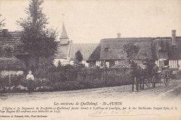 27 / SAINT AUBIN / L EGLISE ET LA SEIGNEURIE / TRES JOLIE CARTE - Saint-Aubin-d'Ecrosville