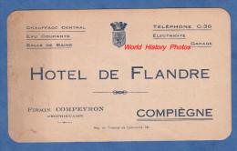 Carte Ancienne - COMPIEGNE - Hotel De Flandre - Firmin Compeyron Propriétaire - Compiegne